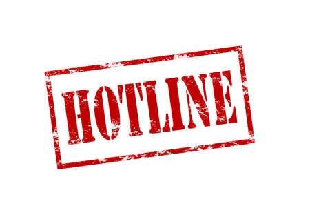 hotline: Stempel mit Wort-Hotline innen, Vektor-Illustration Illustration