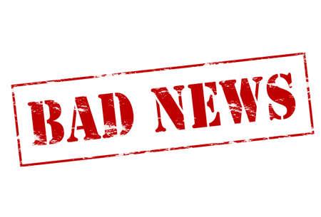 bad news: Rubber stamp with text bad news inside, vector illustration Illustration