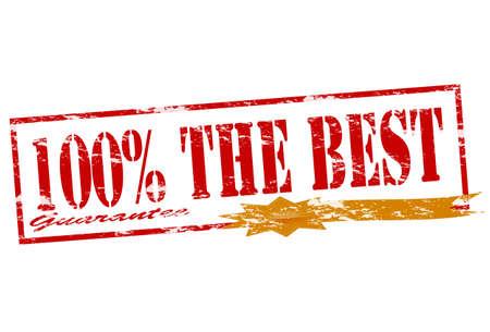 surety: Timbro di gomma con il testo la migliore garanzia dentro, illustrazione vettoriale Vettoriali