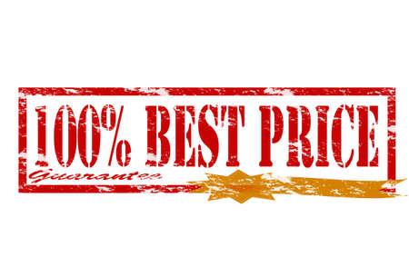 surety: Timbro di gomma con il testo migliore prezzo dentro, illustrazione vettoriale