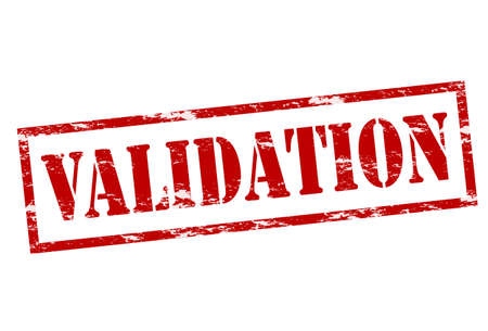 validation: Rubber stamp with word validation  inside Illustration