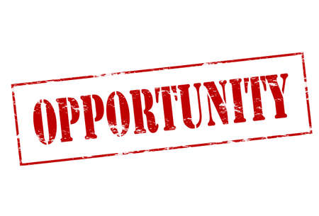 opportunity concept: Rubber stamp with word opportunity inside
