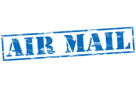 resemblance: Rubber stamp with text air mail inside, vector illustration Illustration