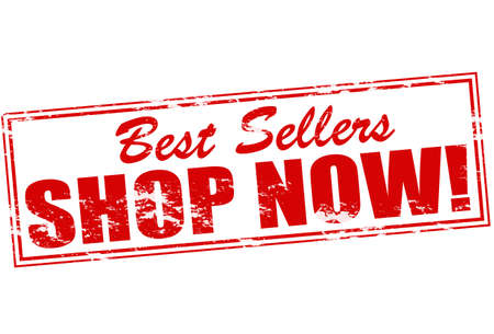 emporium: Rubber stamp with text best sellers inside, vector illustration Illustration