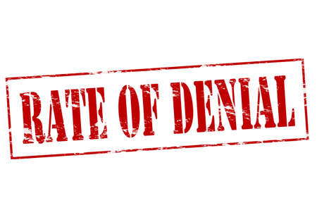 denial: Rubber stamp with text rate of denial inside, vector illustration Illustration