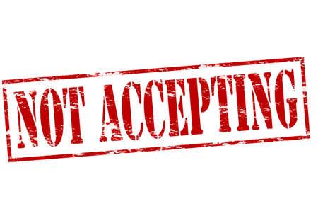 assentiment: timbre en caoutchouc avec le texte de ne pas accepter � l'int�rieur, illustration vectorielle