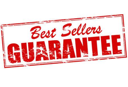 surety: Timbro di gomma con il testo best seller guaratee dentro, illustrazione vettoriale Vettoriali