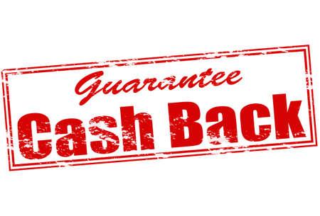 surety: Rubber stamp with text cash back inside, vector illustration Illustration