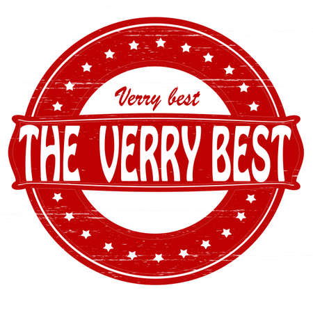 verry: Stamp with text verry best inside, vector illustration Illustration