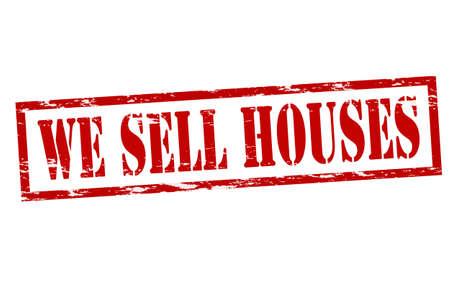 betray: Sello de goma con el texto que vendemos casas en el interior