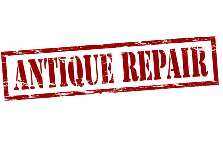 refit: Rubber stamp with text antique repair inside