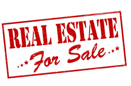 proprietary: Rubber stamp with text real estate inside, vector illustration Illustration