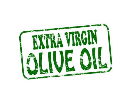 aceite de oliva virgen extra: Sello de goma con el texto de aceite de oliva extra virgen en el interior, ilustraci�n vectorial Vectores