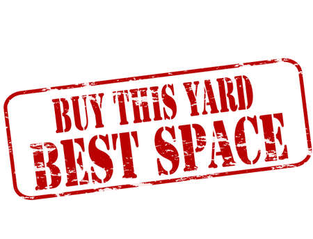 attentions: Rubber stamp with text buy this yard inside