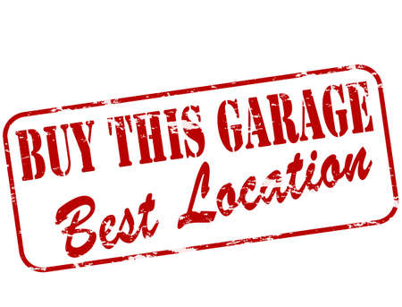 tenancy: Rubber stamp with text buy this garage inside, vector illustration