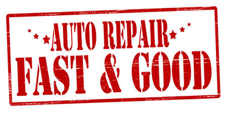 quickly: Rubber stamp with text auto repair inside, vector illustration