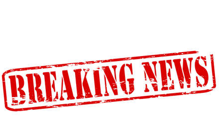 breakage: Rubber stamp with text breaking news inside, vector illustration Illustration