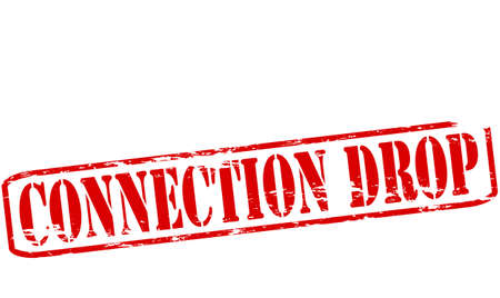 connexion: Rubber stamp with text connection drop inside, vector illustration