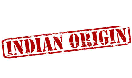 the origin: Rubber stamp with text Indian origin inside, vector illustration