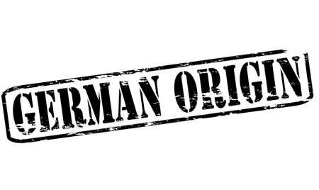 origin: Rubber stamp with text German origin inside, vector illustration Illustration