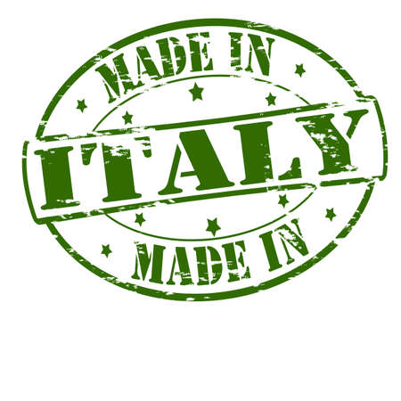 Rubber stamp with text made in Italy inside, vector illustration Vector