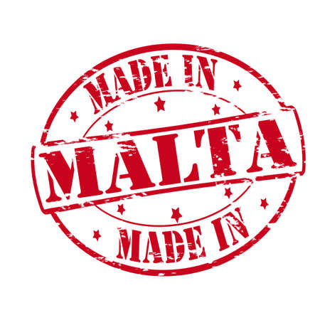 malta: Rubber stamp with text made in Malta inside, vector illustration