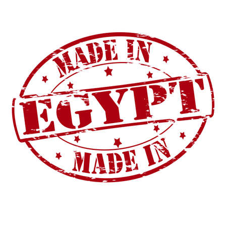 Rubber stamp with text made in Egypt inside, vector illustration Vector