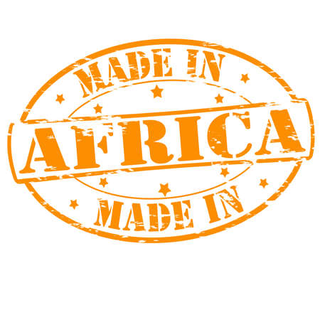 Rubber stamp with text made in Africa inside, vector illustration Vector