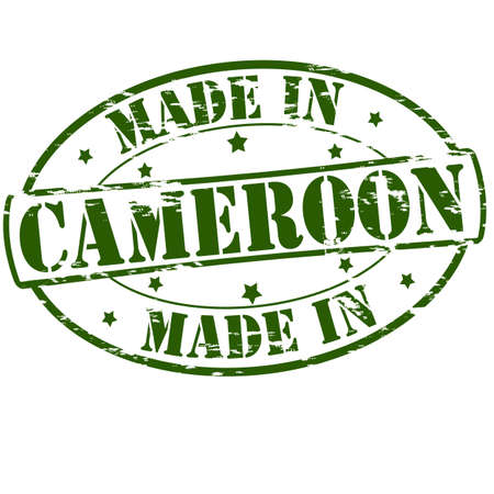 cameroon: Rubber stamp with text made in Cameroon inside, vector illustration