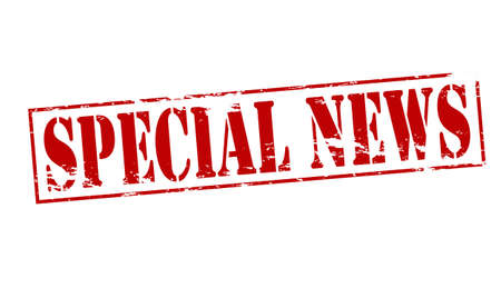 especial: Rubber stamp with text special news inside, vector illustration Illustration
