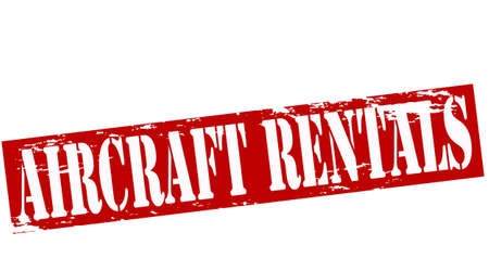 rentals: Rubber stamp with text aircraft rentals inside, vector illustration