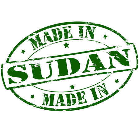 sudan: Rubber stamp with text made in Sudan inside, vector illustration Illustration