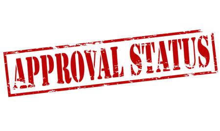 approbation: Timbro di gomma con lo stato di approvazione del testo dentro, illustrazione vettoriale