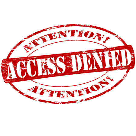 accession: Rubber stamp with text access denied inside, vector illustration