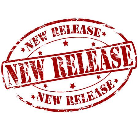 d�livrance: timbre en caoutchouc avec texte nouvelle version � l'int�rieur, illustration vectorielle