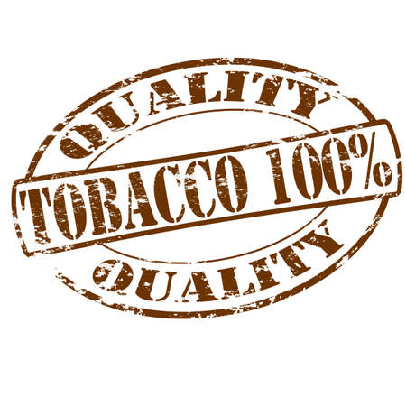 Rubber stamp with text tobacco one hundred percent inside, vector illustration