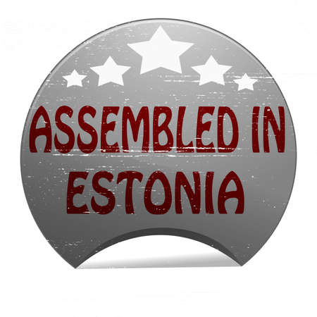 Rubber stamp with text assembled in Estonia inside, vector illustration Vector