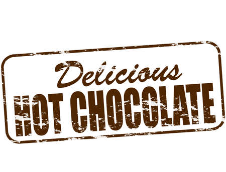Rubber stamp with text delicious hot chocolate inside, vector illustration Ilustracja