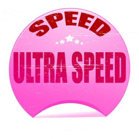 celerity: Sello de goma con el texto de ultra velocidad en el interior, ilustraci�n vectorial