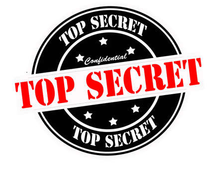 Stamp with text top secret inside, vector illustration Vector