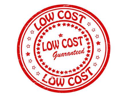 reduced value: Sello con el texto bajo costo en el interior, ilustraci�n Vectores