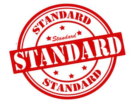 Stempel met het woord standaard binnenzijde Stock Illustratie