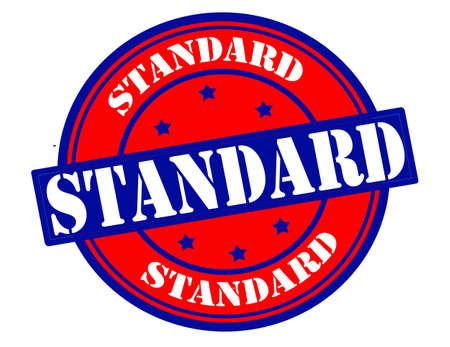 standard: Stamp with word standard inside Illustration