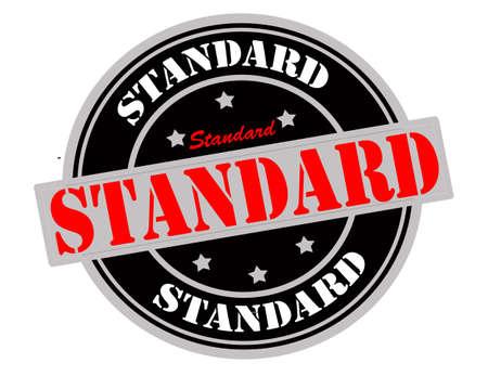 Stamp with word standard inside Ilustração