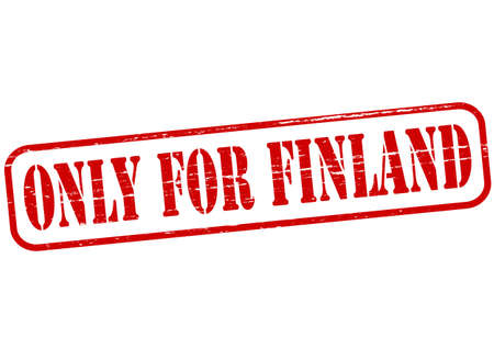 Rubber stamp with text only for Finland inside Vector