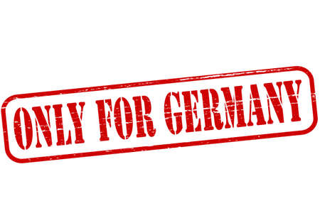 purely: Rubber stamp with text only for Germany inside