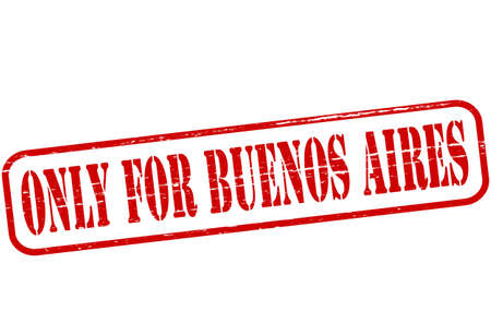 buenos aires: Stempel mit Text nur f�r Buenos Aires im Inneren Illustration
