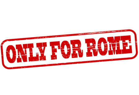 solely: Rubber stamp with text only for Rome inside