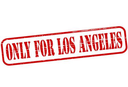 los angeles: Stempel mit Text nur f�r Los Angeles Innen Illustration