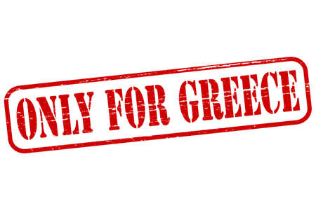 greece stamp: Rubber stamp with text only for Greece inside Illustration